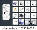 editable simple corporate posts ... | Shutterstock .eps vector #1029914053