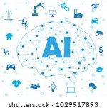 artificial intelligence... | Shutterstock .eps vector #1029917893