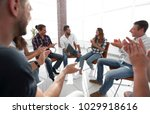 business people are applauding | Shutterstock . vector #1029918616