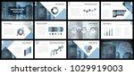 business presentation templates.... | Shutterstock .eps vector #1029919003