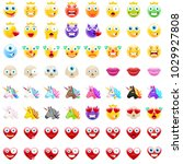 ultimate set of modern emojis ... | Shutterstock .eps vector #1029927808