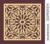 laser cutting panel. golden... | Shutterstock .eps vector #1029929374
