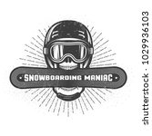 emblem of the snowboarding... | Shutterstock .eps vector #1029936103