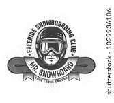 snowboarding logo with man's... | Shutterstock .eps vector #1029936106
