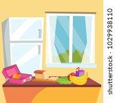 kitchen cartoon vector. classic ... | Shutterstock .eps vector #1029938110