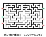 illustration with labyrinth ... | Shutterstock .eps vector #1029941053