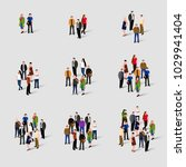 different groups of people.... | Shutterstock .eps vector #1029941404