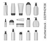 set of vector cosmetic bottles... | Shutterstock .eps vector #1029942928