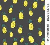 pineapple seamless pattern... | Shutterstock .eps vector #1029943786