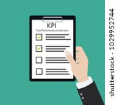 kpi key performance indicator... | Shutterstock .eps vector #1029952744