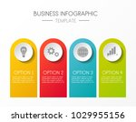 template of an infographic.... | Shutterstock .eps vector #1029955156