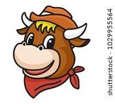 cartoon character  cowboy bull...   Shutterstock .eps vector #1029955564