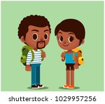 vector set of man and woman... | Shutterstock .eps vector #1029957256