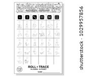 roll and trace alphabet and... | Shutterstock .eps vector #1029957856