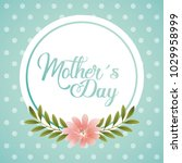 mothers day card floral | Shutterstock .eps vector #1029958999