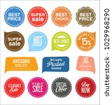 sale stickers and tags colorful ... | Shutterstock .eps vector #1029968290