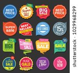 sale stickers and tags colorful ... | Shutterstock .eps vector #1029968299