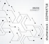 technology hexagons structure...   Shutterstock .eps vector #1029969718
