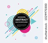 modern abstract circle colorful ... | Shutterstock .eps vector #1029970300