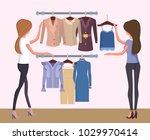 summer mode and women changing... | Shutterstock .eps vector #1029970414