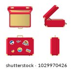 set of leather vintage... | Shutterstock .eps vector #1029970426