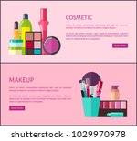 cosmetic and makeup  set of web ... | Shutterstock .eps vector #1029970978