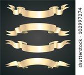 medieval ribbons set | Shutterstock .eps vector #102997274
