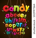 vector of stylized candy like... | Shutterstock .eps vector #102997364