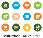 shopping cart icons | Shutterstock .eps vector #1029974740