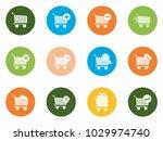 shopping cart icons | Shutterstock .eps vector #1029974740
