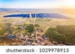aerial rural photovoltaic solar ...   Shutterstock . vector #1029978913