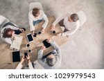 working table  business meeting | Shutterstock . vector #1029979543