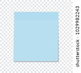 blue sticky note isolated on a... | Shutterstock .eps vector #1029982243