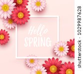 colorful spring background with ... | Shutterstock .eps vector #1029987628