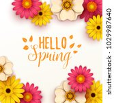 colorful spring background with ... | Shutterstock .eps vector #1029987640