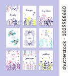 romantic greeting cards set ... | Shutterstock .eps vector #1029988660