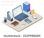 flat isometric illustration of...   Shutterstock .eps vector #1029988684