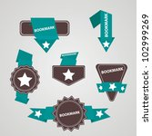 vintage bookmark buttons | Shutterstock .eps vector #102999269