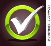check list symbol   vector... | Shutterstock .eps vector #102999284
