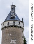 Small photo of CHENONCEAU, FRANCE - SEPTEMBER 4, 2017: The famous Marques tower (Tour des Marques) in Medieval Chateau de Chenonceau (1522) spanning River Cher in Loire Valley in France.