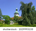 chateau and park vsetin  czech... | Shutterstock . vector #1029993133