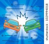 flat line design graphic image... | Shutterstock .eps vector #1029994018