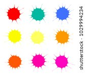 collection of colorful paint...   Shutterstock .eps vector #1029994234