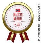 made in norway. vector badge... | Shutterstock .eps vector #1029997354