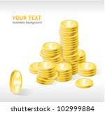 vector coins stack with text | Shutterstock .eps vector #102999884