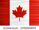 vector concept of canadian flag.... | Shutterstock .eps vector #1030000894