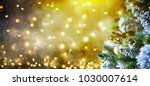 christmas and new year holiday... | Shutterstock . vector #1030007614