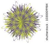 vector flower design  isolated  ...   Shutterstock .eps vector #1030009984