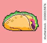 vector illustration tacos in... | Shutterstock .eps vector #1030015876