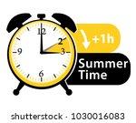 summer time. daylight saving... | Shutterstock .eps vector #1030016083